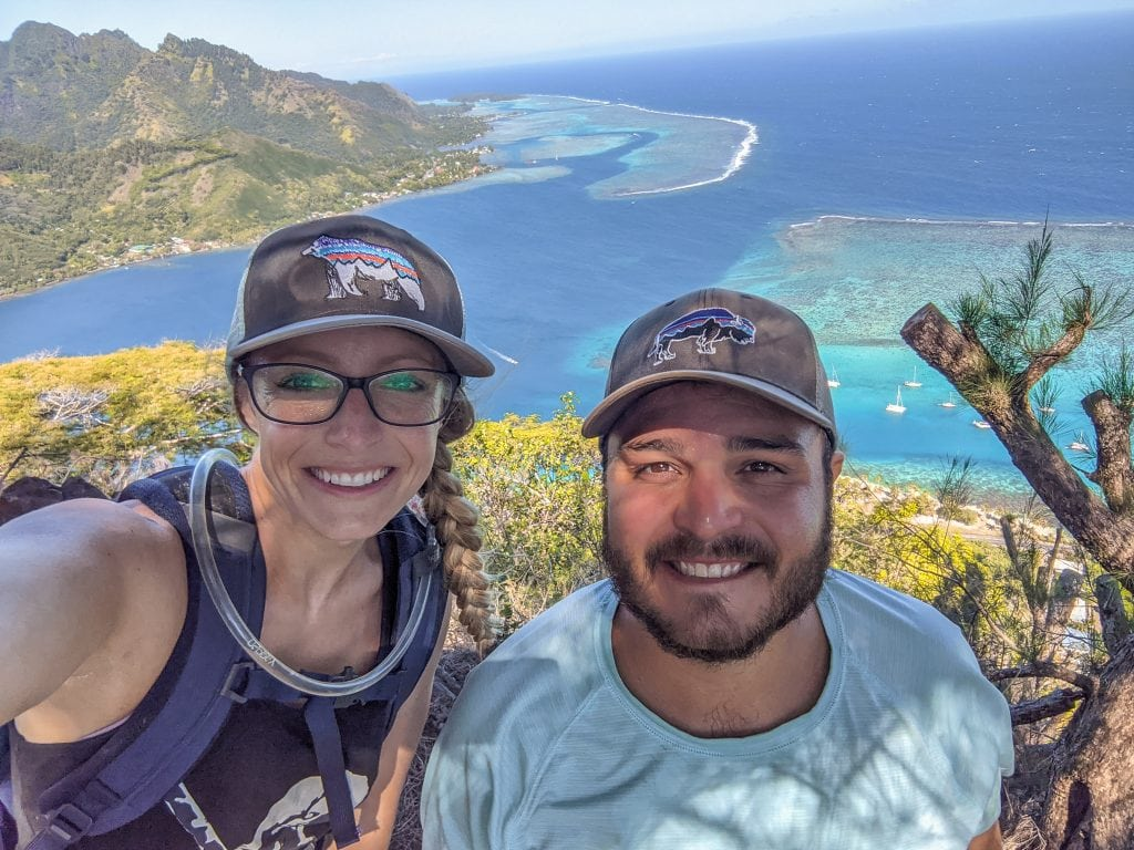 A View of Opunohu Bay From The Top Of Rotui With Mike & Laura.