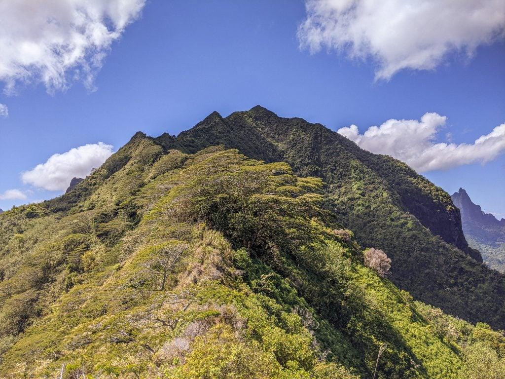 Climbing Mount Rotui In Moorea, French Polynesia