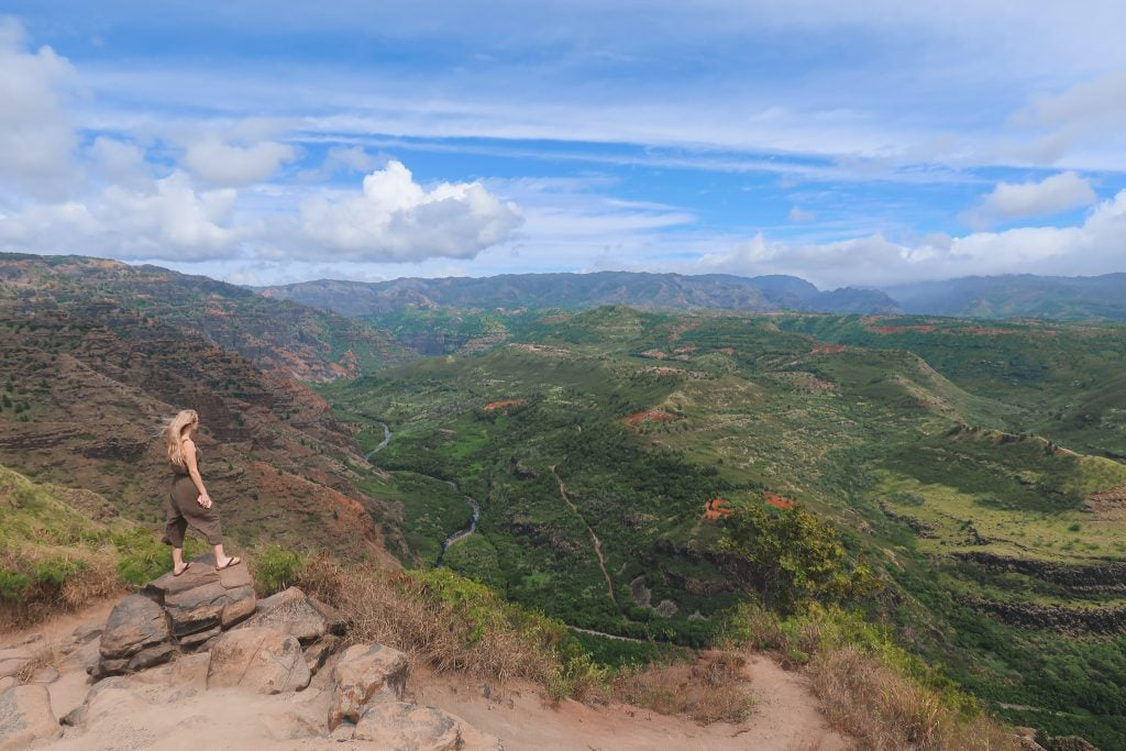 A View of Waimea Canyon In Kauai, One of The Best Things To Do On The Island.