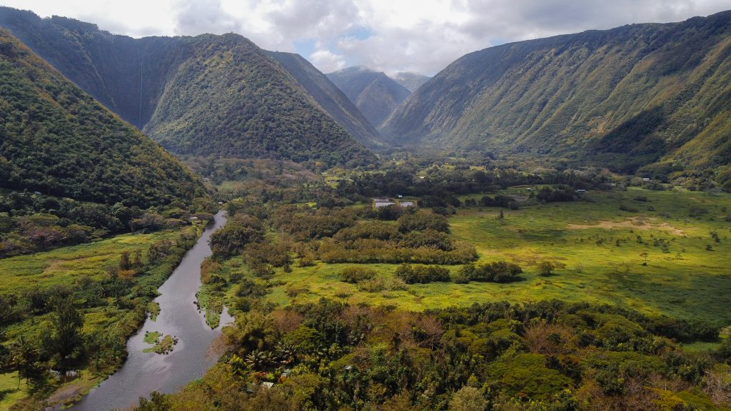An Drone View of the Big Island, Hawaii.