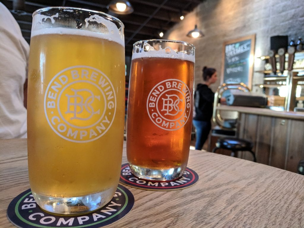 Two Beers From Bend Brewing Company.