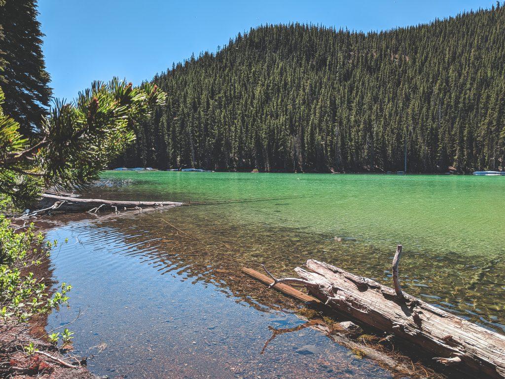 A View of Devil's Lake Near Mount Bachelor In Bend, Oregon.