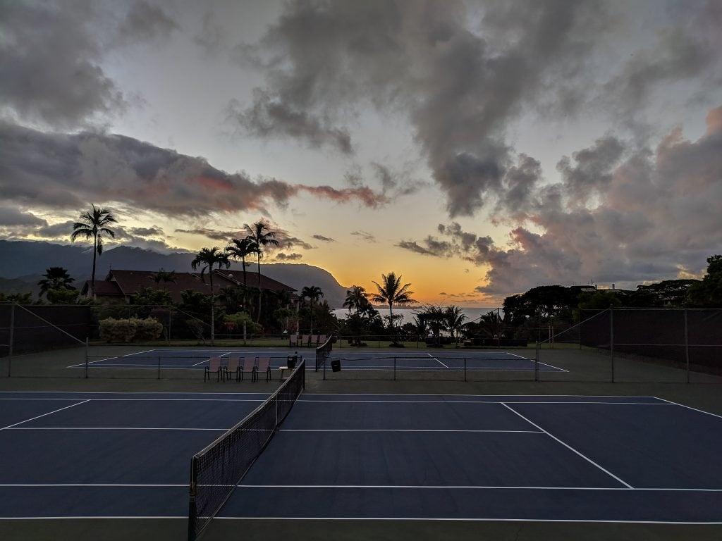 A Sunset On The Beaches of Princeville, Kauai.