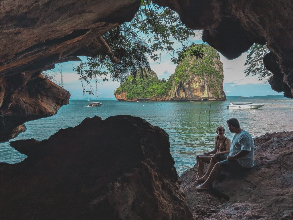Sitting In A Cave On Railay Beach