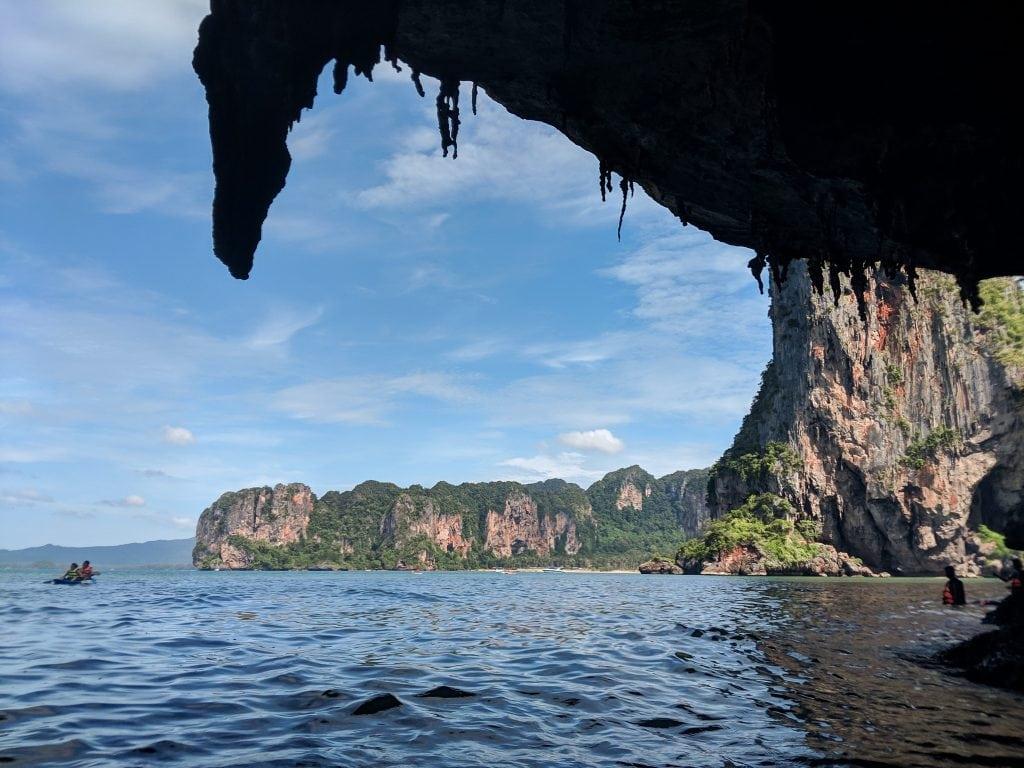 Caves Near Railay Beach, Perfect For Kayak Exploring.