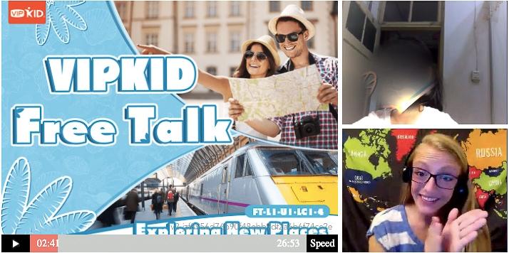 VIPKID California - Teacher Laura Teaching A Free Talk Student on the VIPKID Platform