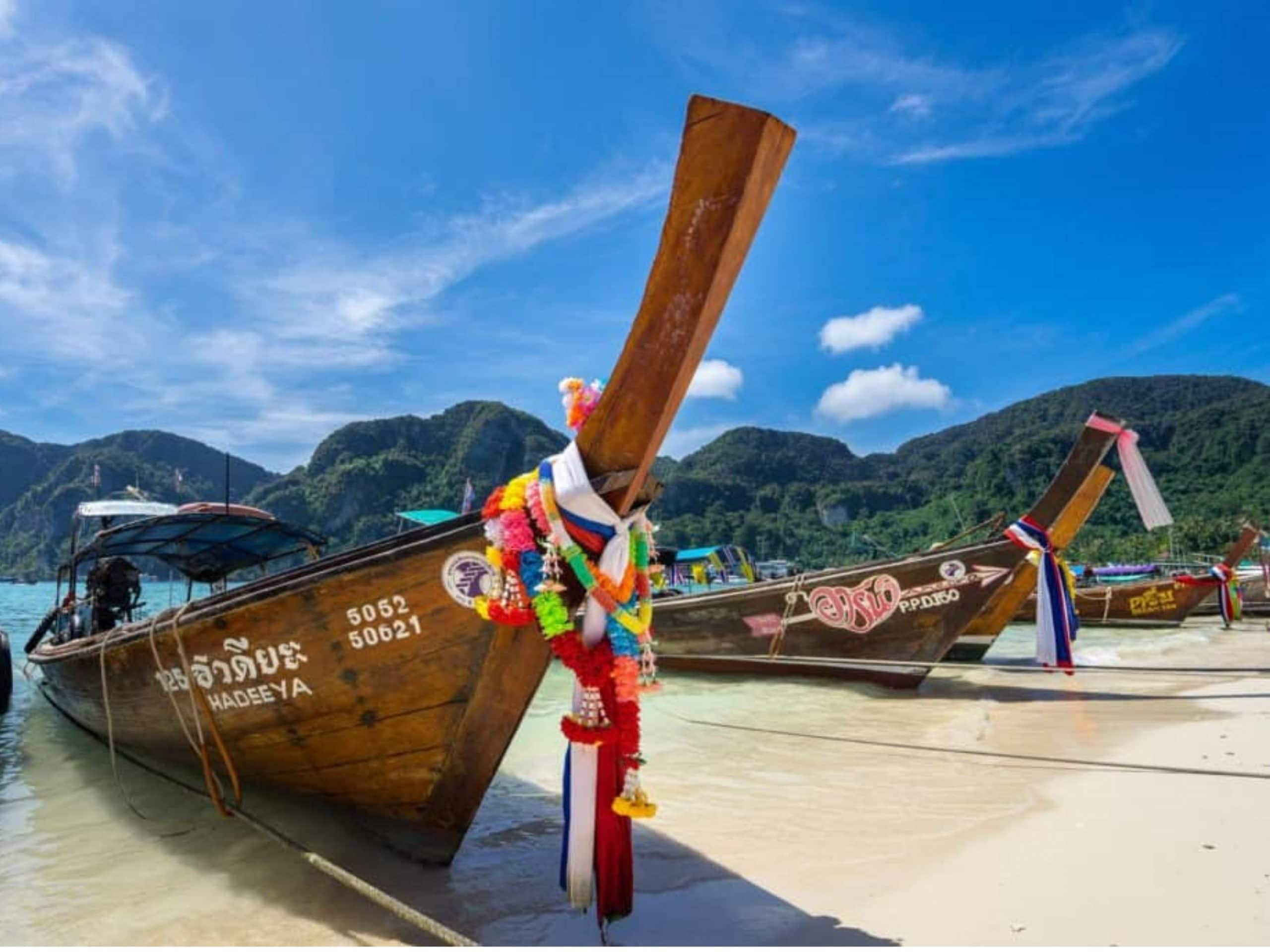 Long-tail boats in Thailand