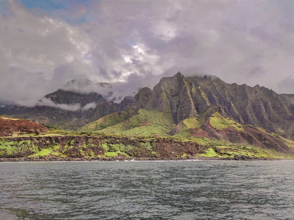 A View of the Na Pali Coast From A Boat Tour; One of the Best Things To Do.