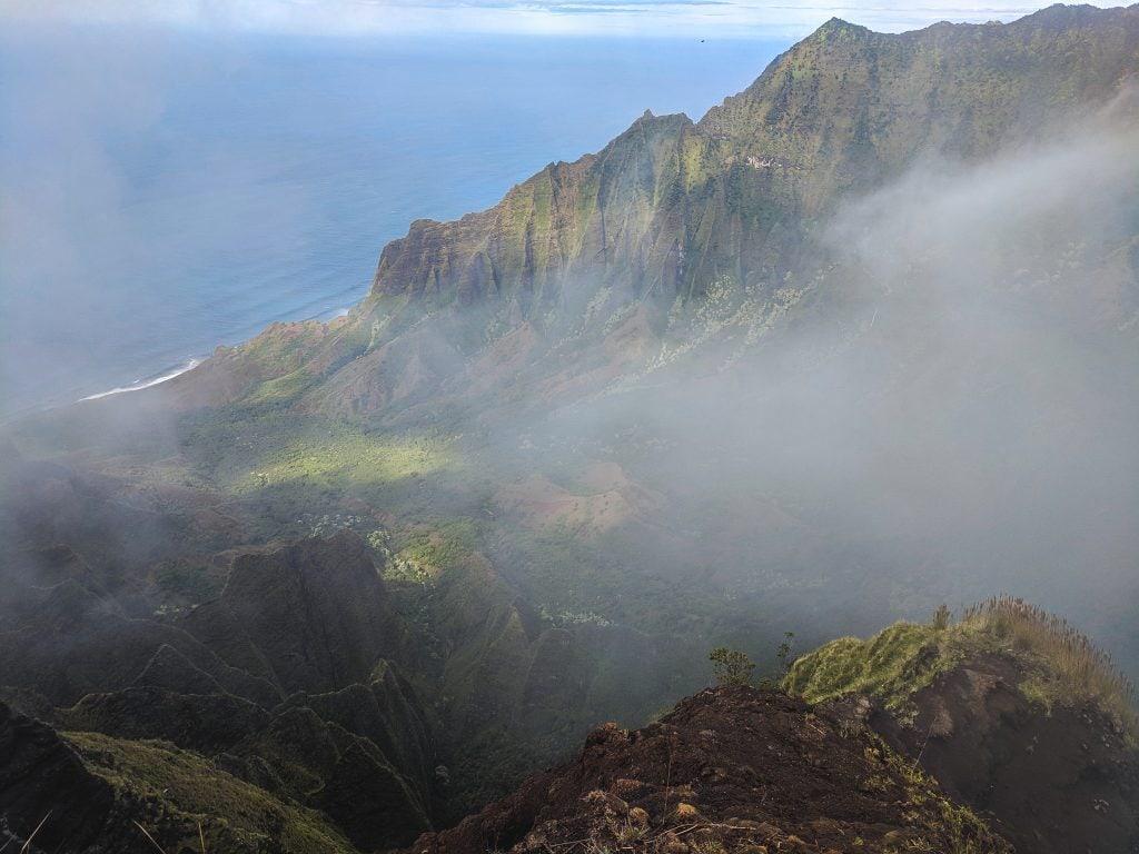 A Cloud Coming Over The Na Pali Coast.