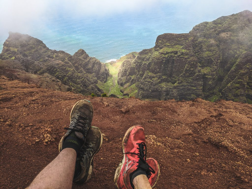 A View of the Ocean From The Top of the Na Pali Coast.