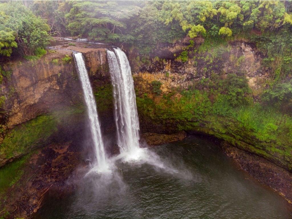 Wailua Falls In Kauai, USA.