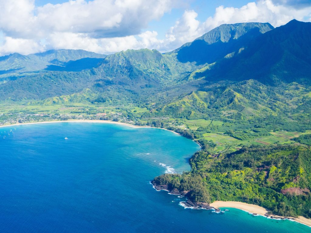 An Aerial View of Hanalei Bay, One of The Best Places To Explore on Kauai.