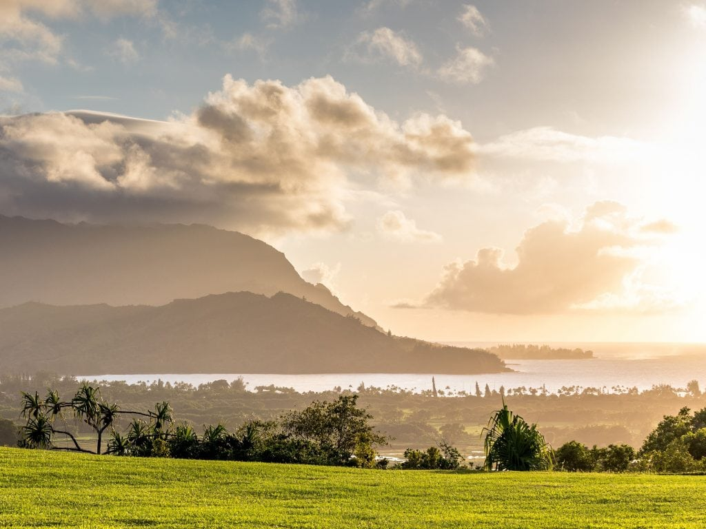 Hanalei Bay In Kauai, One of the Best Places To Stay in Kauai.