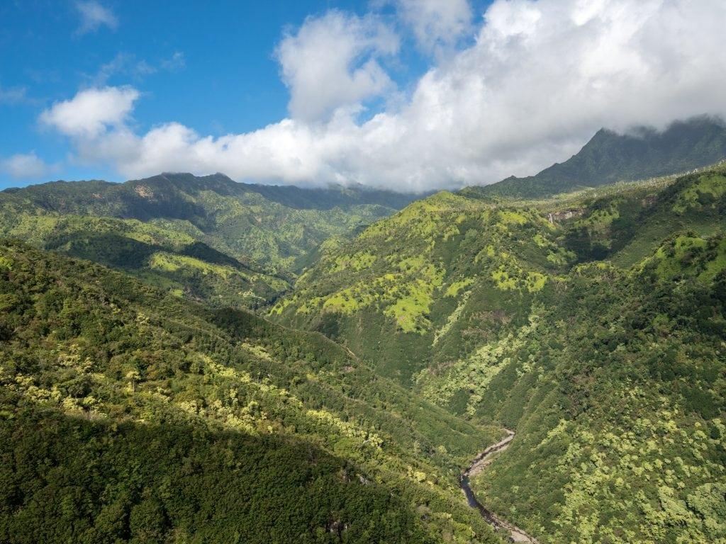 A View of Kauai's Inland.
