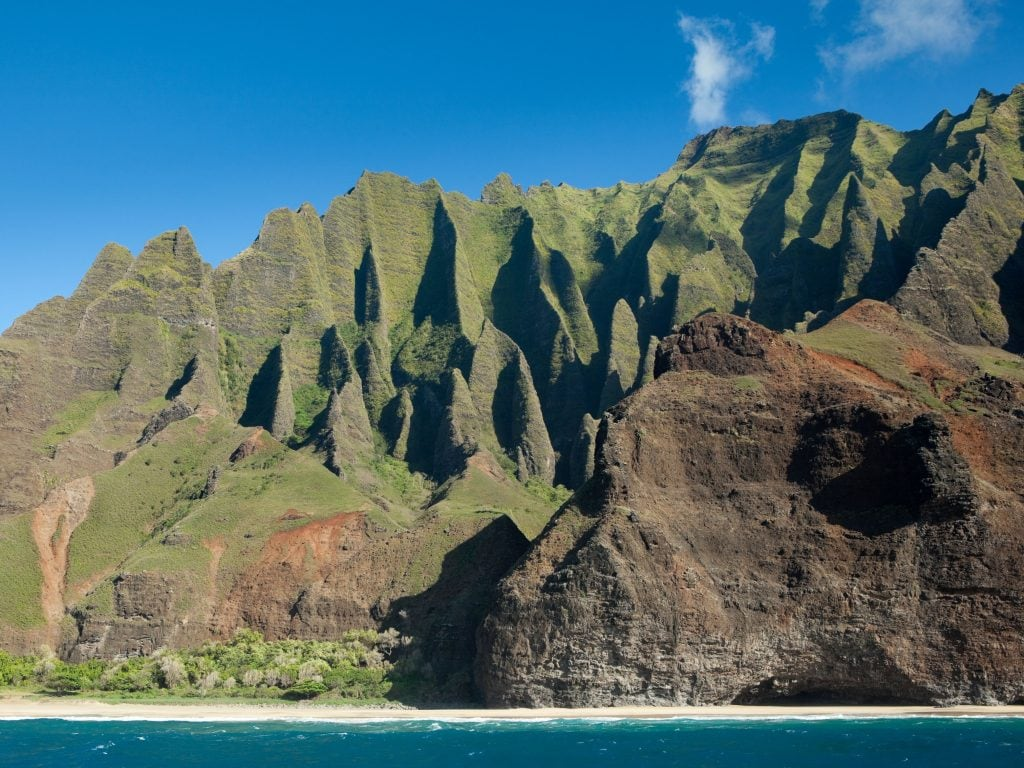A View of Na Pali Coast; Be Sure To Hike The Kalalau Trail As One of the Best Things To Do in Kauai.