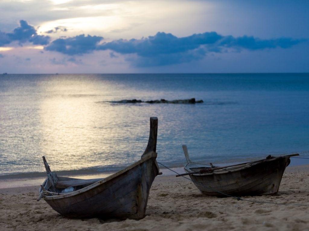 Koh Lanta Beach At Sunset.