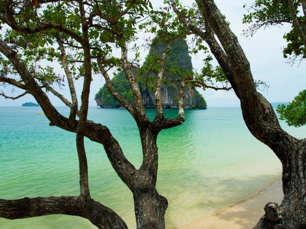 Beach In Ao Nang, Krabi Thailand.