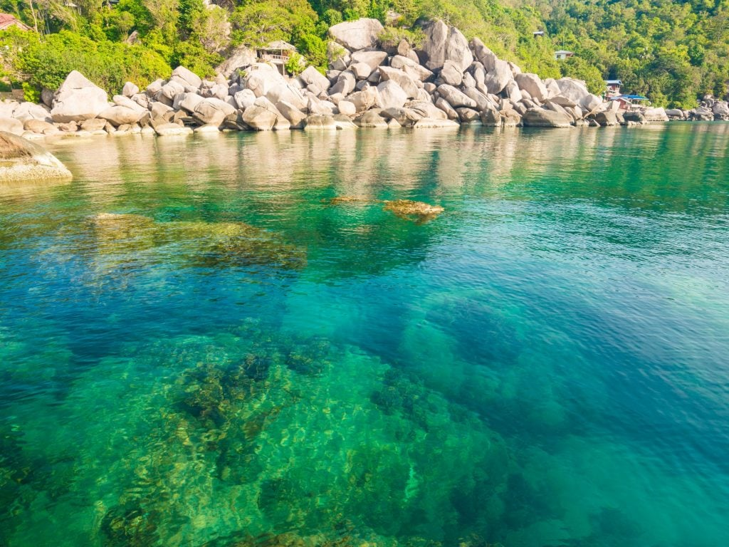 An Overhead View of the Ocean In Thailand. Perfect For Snorkeling.