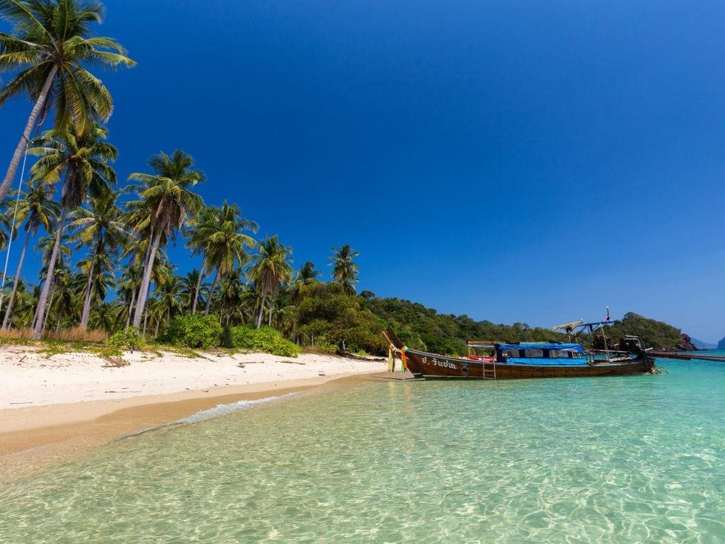 Koh Pu And Koh Jum Beach In Krabi, Thailand.