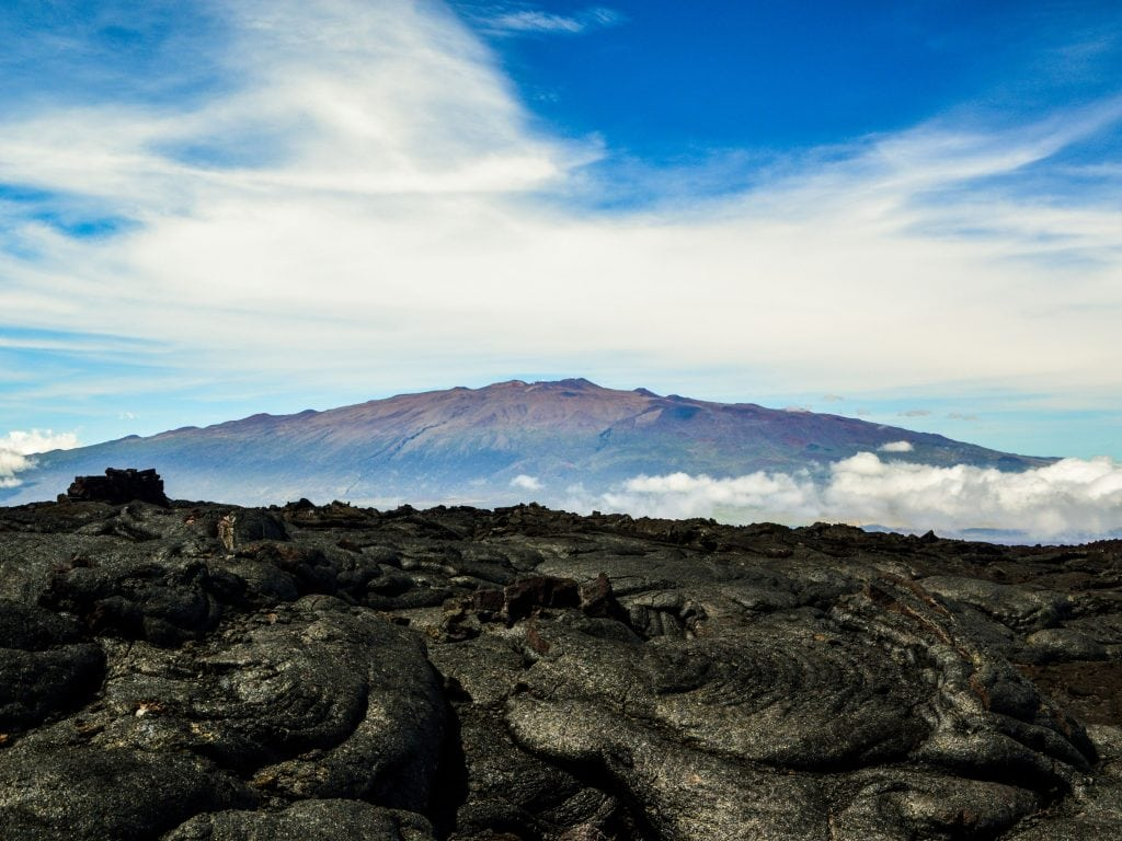 A Distance View of the Top of Mauna Kea.