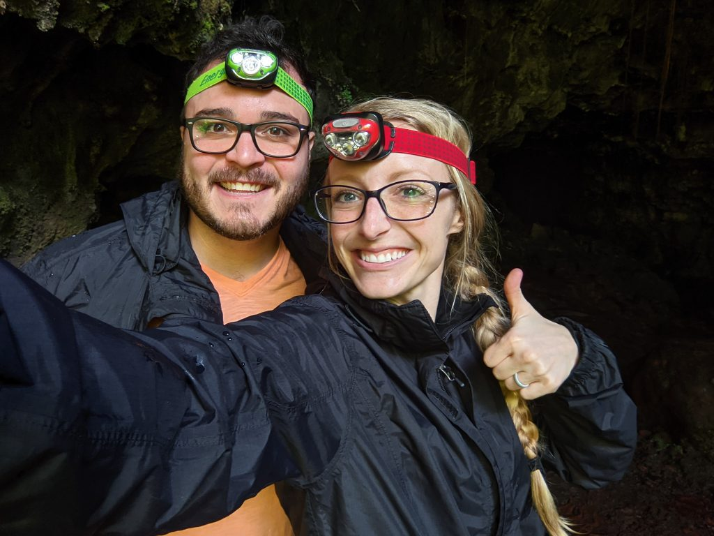 Mike And Laura Preparing To Go Into Kazumanu Cave.