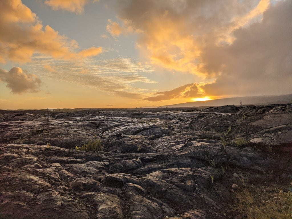 Catch A Sunrise Over The Lava.