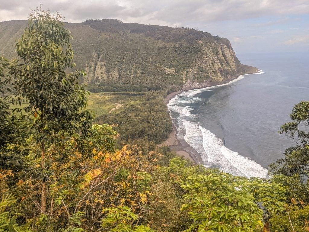 An Aerial View of Waipio Valley On The Big Island of Hawaii.