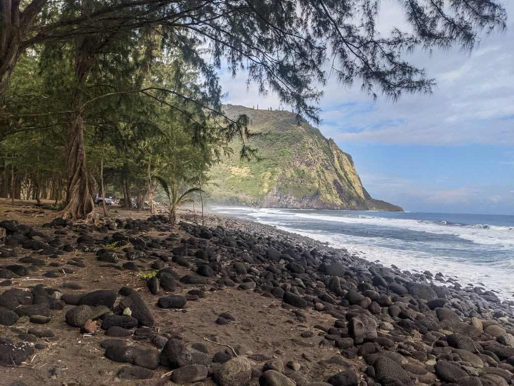 Waipi'o Valley Beach, Which Is An Awesome Day Trip From Hilo And One of the Best Things You Can Do.