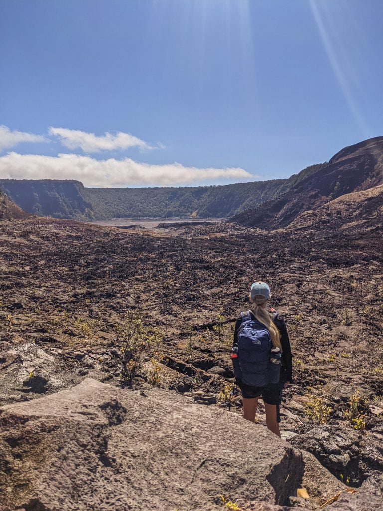 Standing At The Edge of Kilauea Iki Crater in Volcanoes National Park.