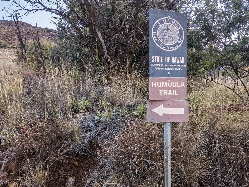 Humuula Trail Leading To The Summit of Mauna Kea on the Big Island of Hawaii.