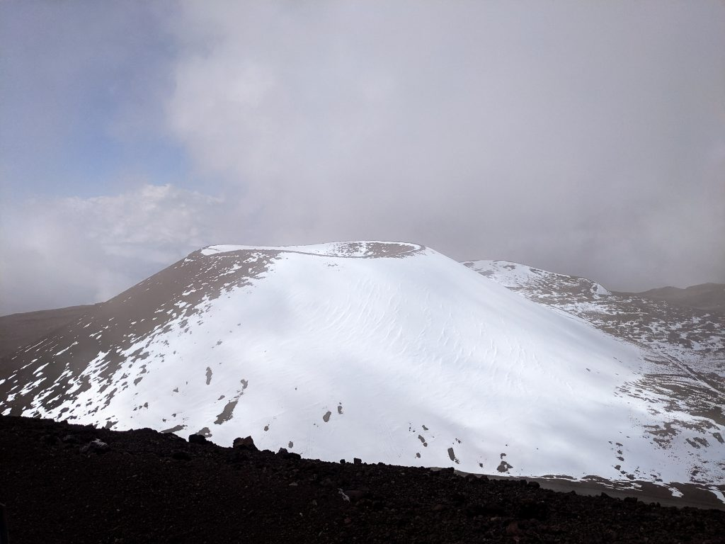 The Crater At The Top of Mauna Kea.