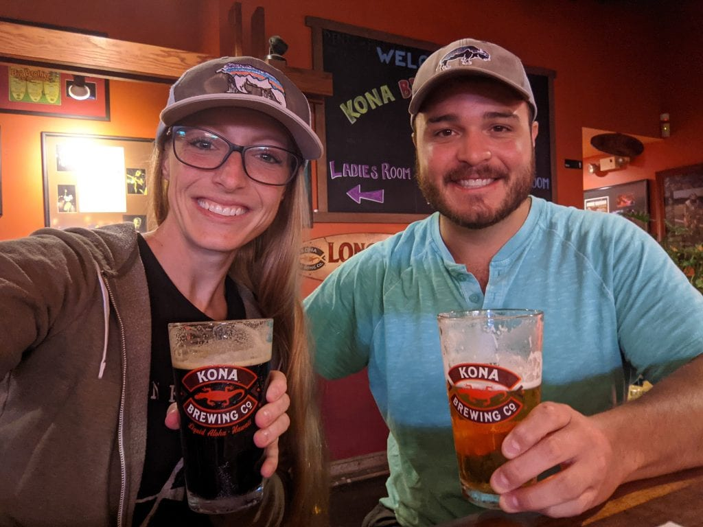 Mike & Laura Drinking A Kona Beer At The Kona Brewery On The Big Island.