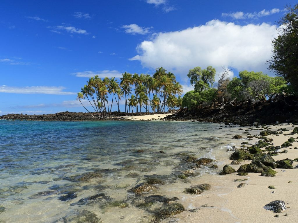 A Sunny Day At Two Step Beach On The Big Island of Hawaii.
