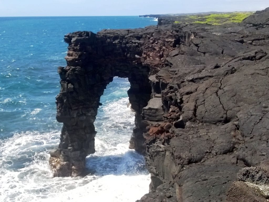 Holei Sea Arch, One of The Many Things To Do In Volcanoes National Park On The Big Island of Hawaii.
