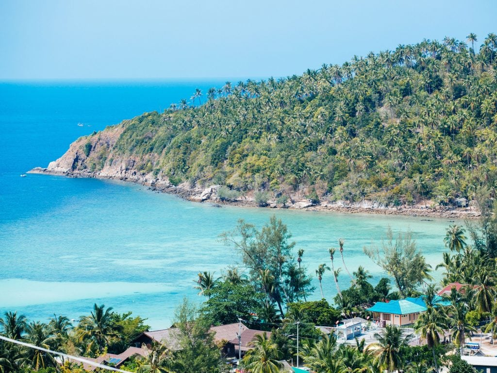 Aerial View of Koh Phangan, A Must Stop during Your Thailand Island Hopping Trip.