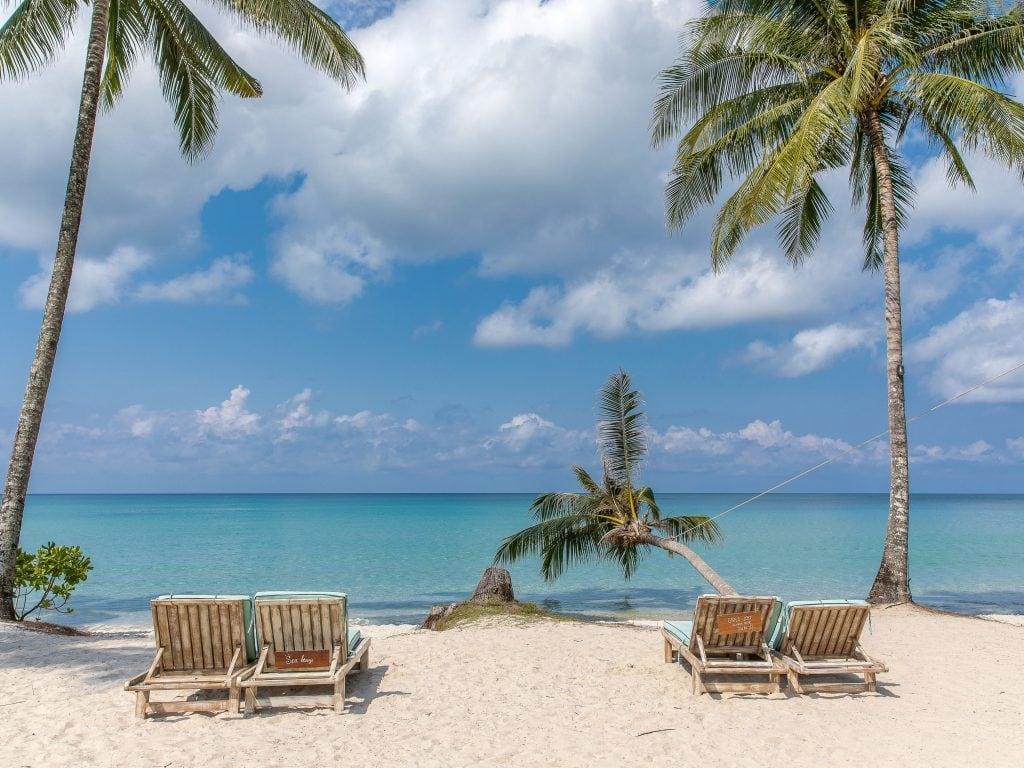 Beach View On Koh Kood Island Thailand.