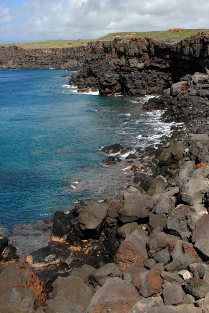 The Rugged Cliffs at the Southern End of The Big island.