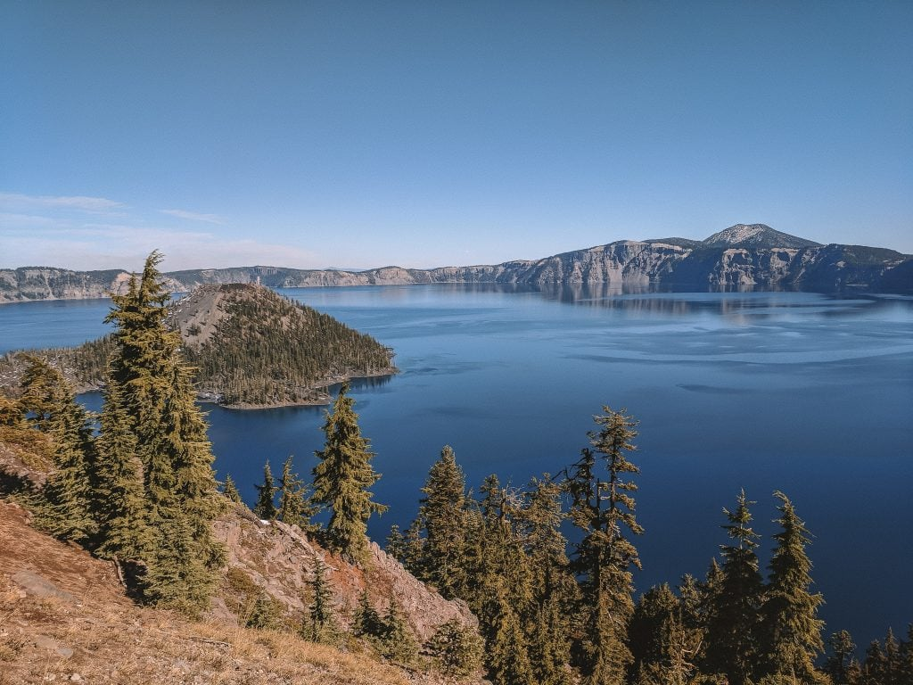 A Summer View of Crater Lake National Park, An Awesome Day Trip From Bend.