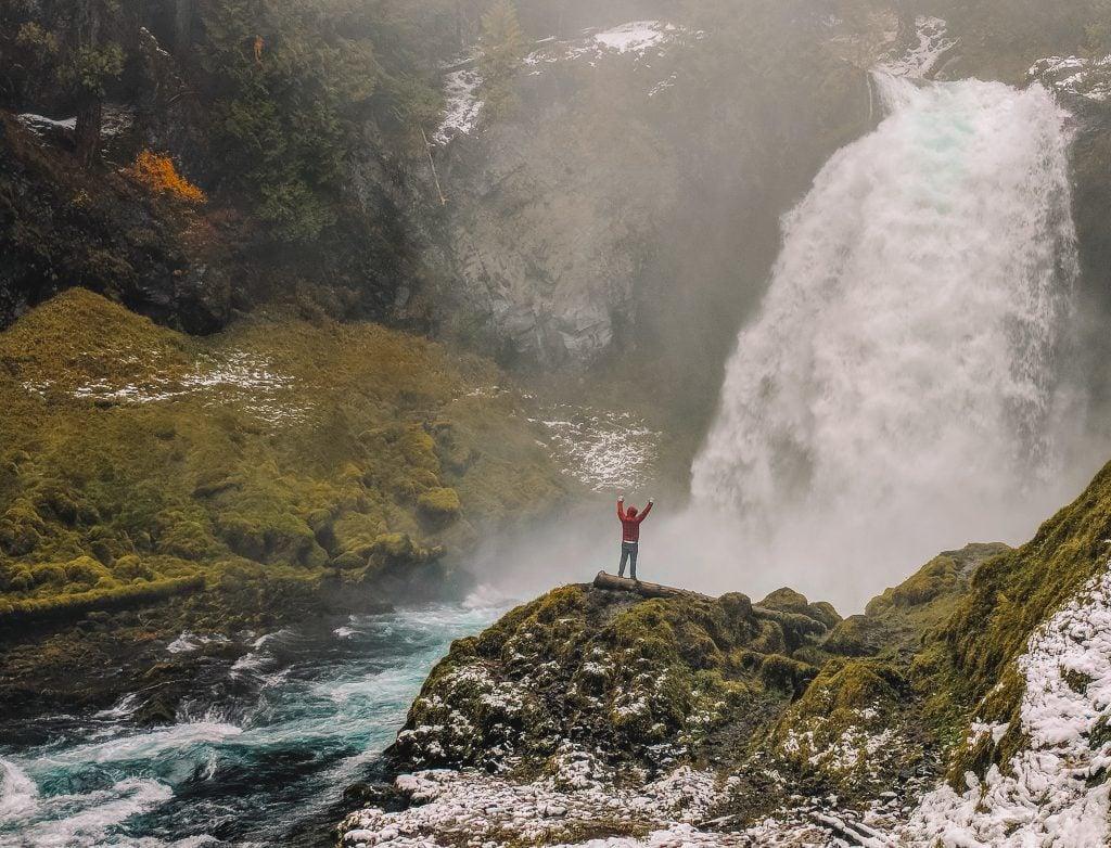 Koosah Falls in Willamette National Forest.