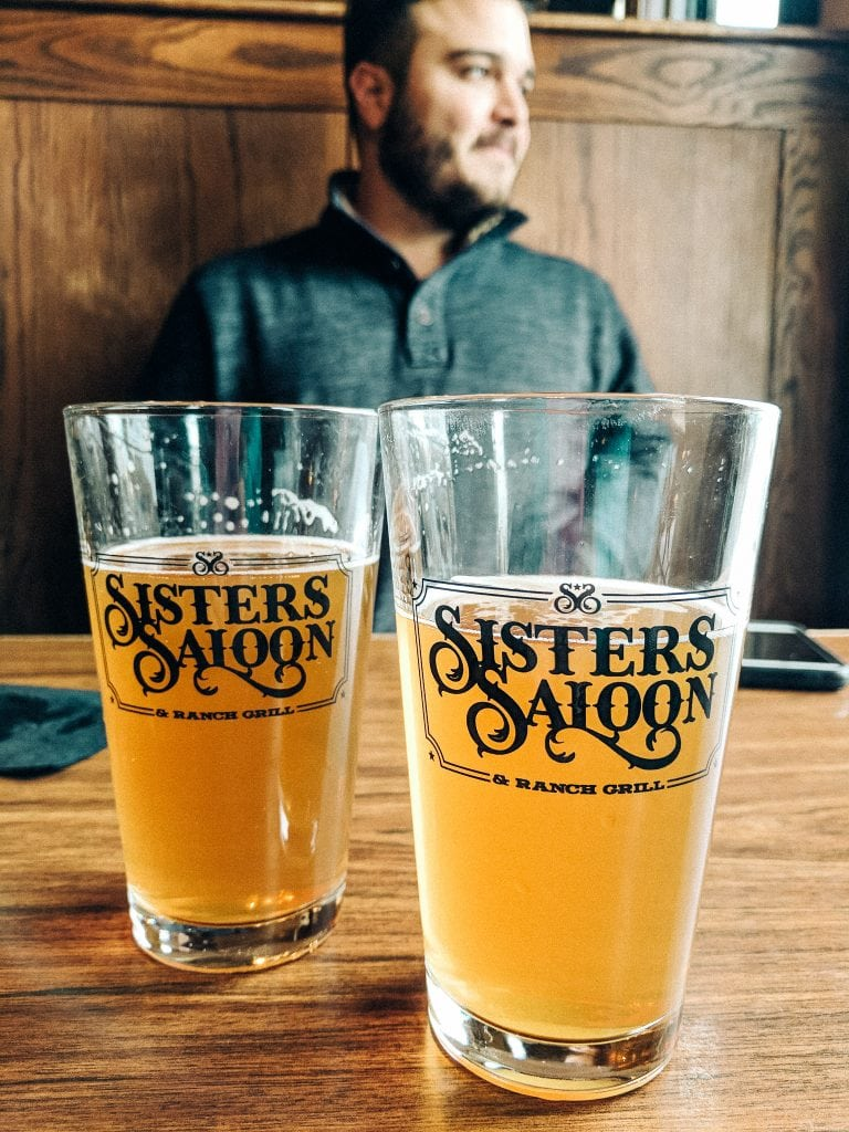 Sitting At Sisters Saloon, The Perfect Day Trip From Bend.