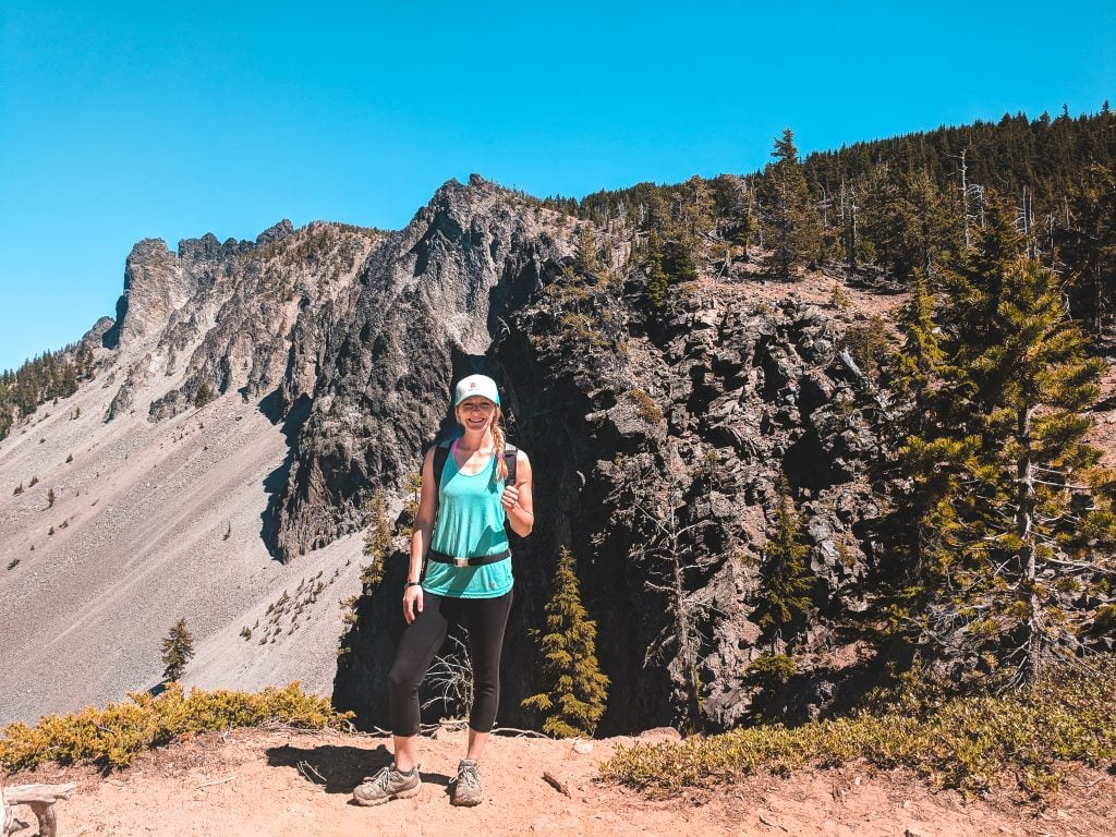 Laura Standing On Paulina Peak, One of the Best Day Trips From Bend.