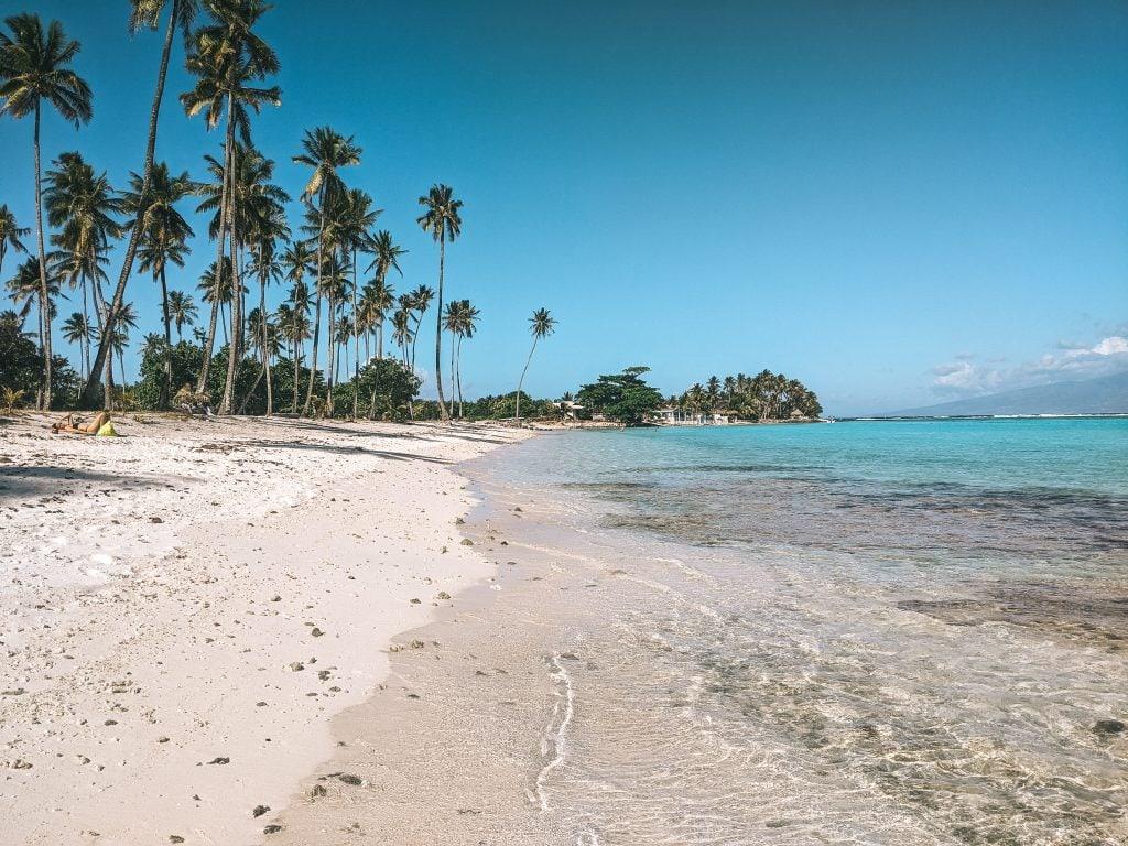 A Beach In Moorea, French Polynesia.