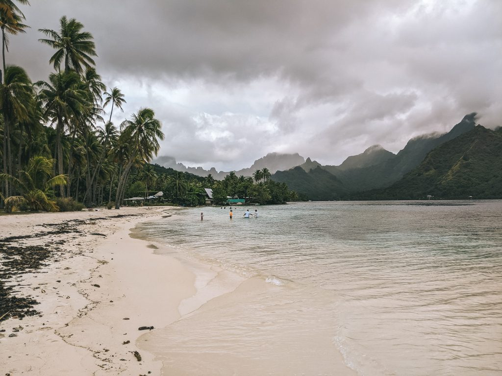 Rain Clouds Over Cook's Bay In Moorea During November, Not The Best Time To Visit the Archipelago.