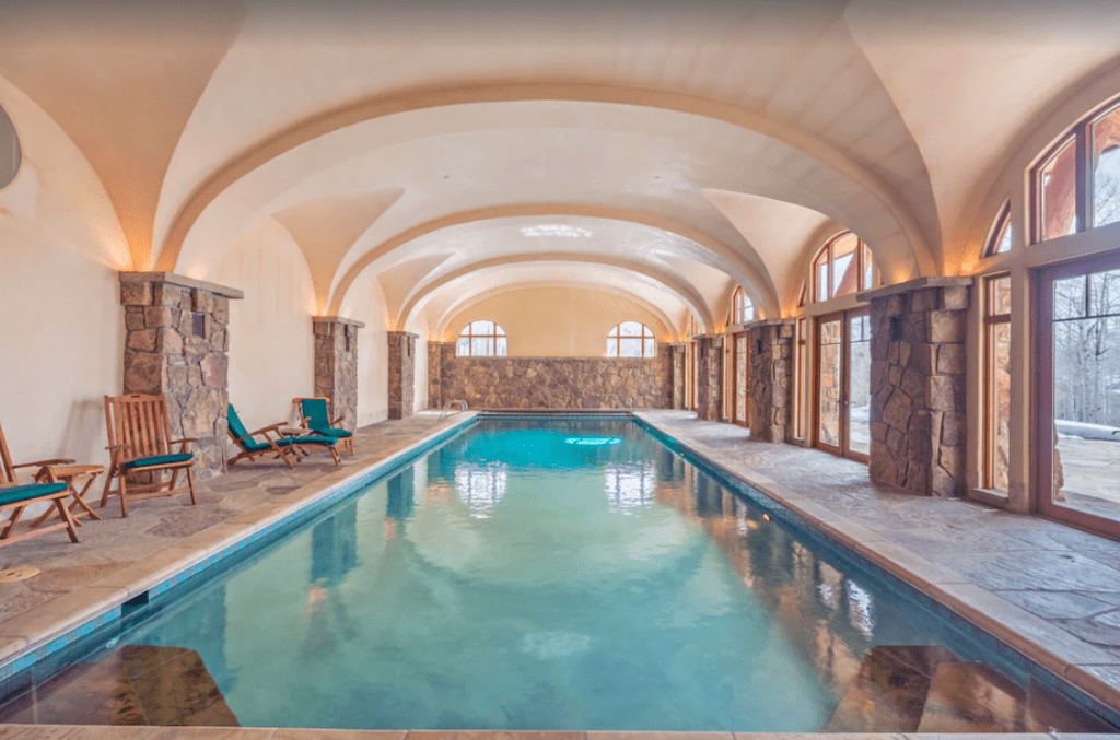 A Beautiful Home With Indoor Pool For Rent.