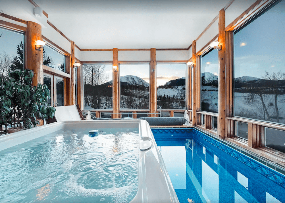 An Indoor Heated Lap Pool With Saltwater In An Airbnb.
