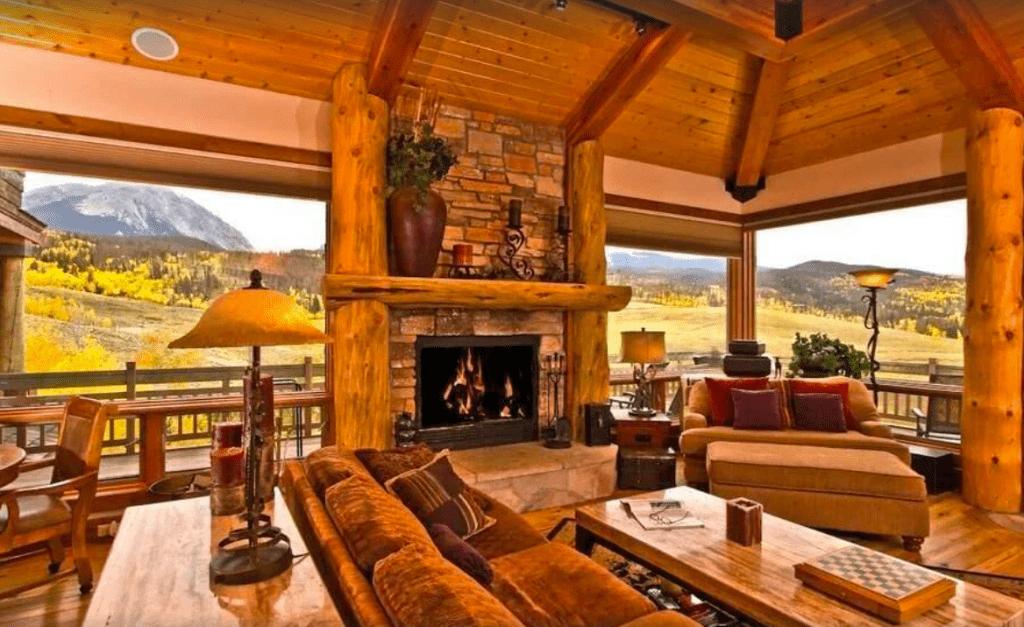 A Massive Log Cabin Mansion In Colorado.