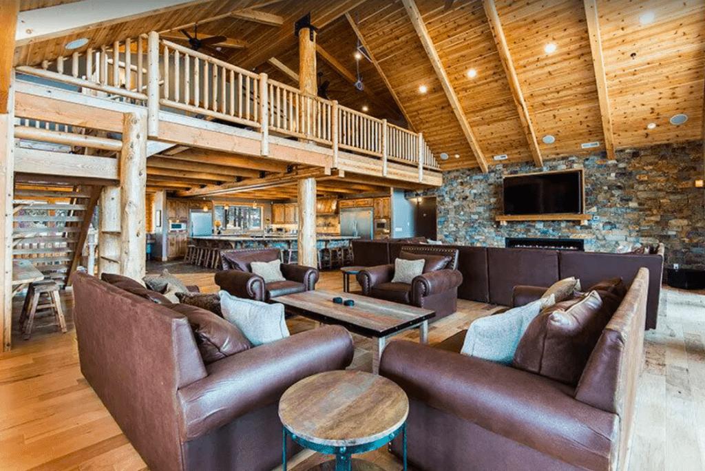 Living Space In Airbnb Rental.
