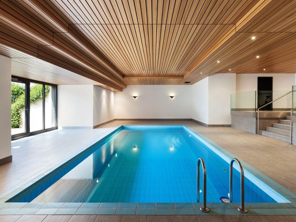 A Pool Indoors At A Vacation Rental