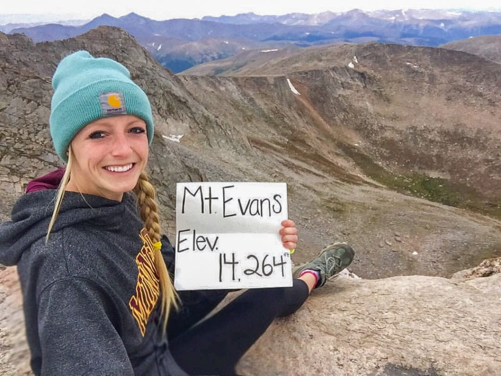 Sitting On Top of Mount Evans Near Denver.