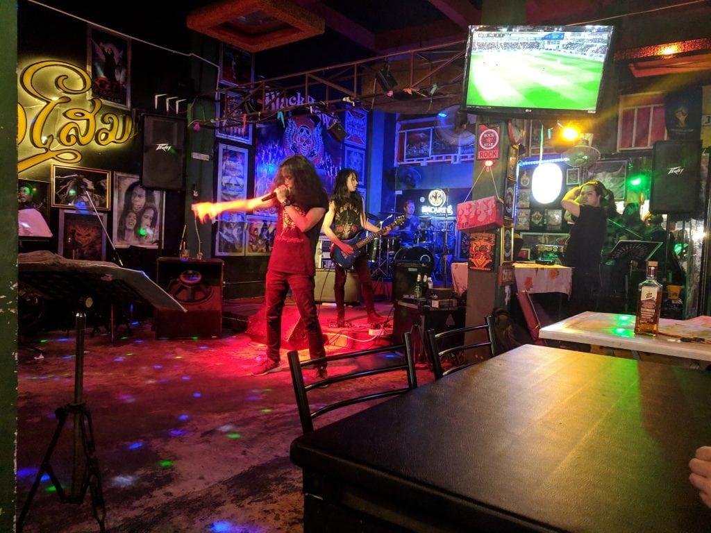 A Live Band at the Chiang Mai Night Bazaar.